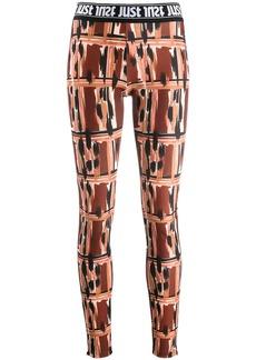 Just Cavalli logo print waistband leggings