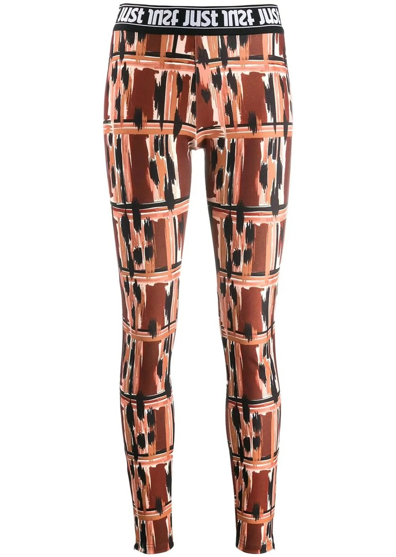 Just Cavalli logo print waistband leggings