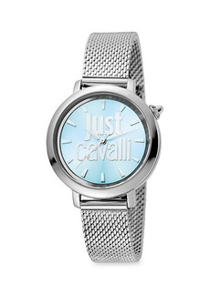 Just Cavalli Logo Stainless Steel Bracelet Watch