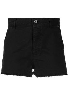 Just Cavalli logo-stripe denim shorts