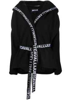 Just Cavalli logo trim hooded jacket