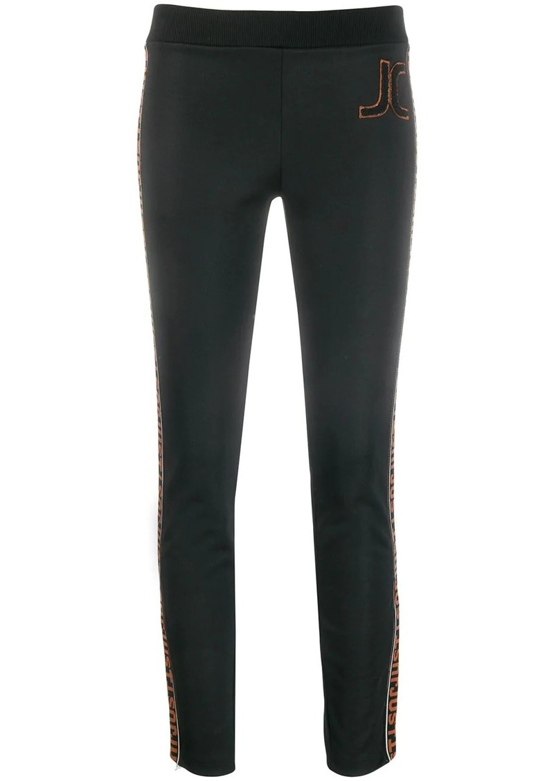 Just Cavalli logo trim track trousers