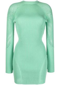 Just Cavalli long-sleeve ribbed-knit dress