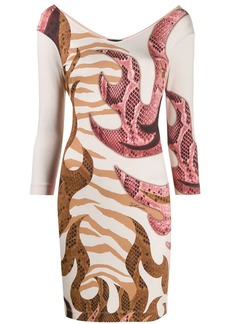 Just Cavalli snakeskin print dress
