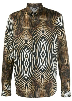 Just Cavalli long sleeved zebra print shirt