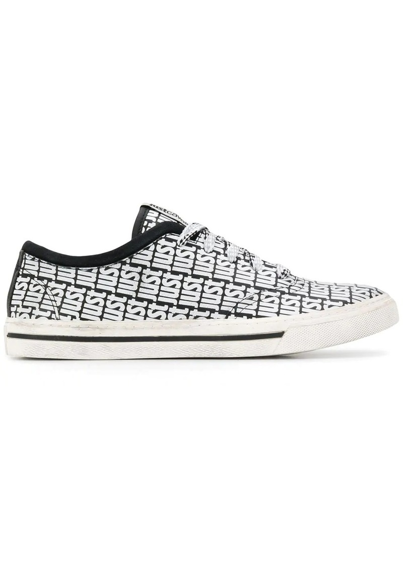 Just Cavalli low-top logo print sneakers