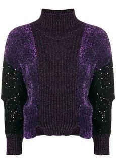 Just Cavalli lurex turtleneck sweater