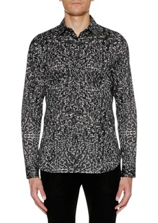 Just Cavalli Men's Animal-Print Sport Shirt