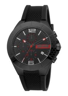 Just Cavalli Men's Chronograph Watch w/ Rubber Strap  Black