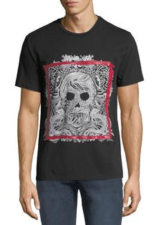 Just Cavalli Men's Framed Skull Graphic T-Shirt