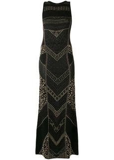Just Cavalli metallic knitted maxi dress