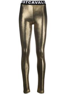 Just Cavalli metallic logo leggings