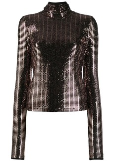 Just Cavalli metallic roll neck jumper