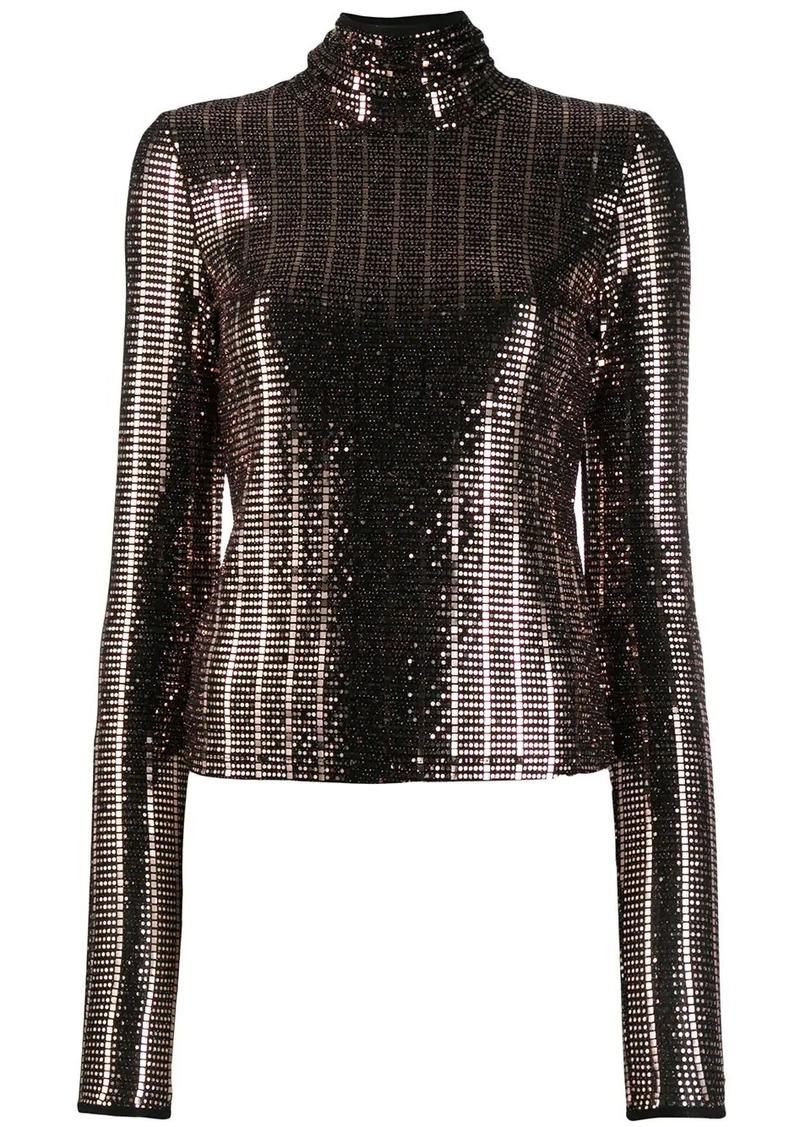 Just Cavalli metallic roll neck jumper