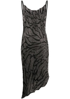 Just Cavalli metallized fitted cocktail dress