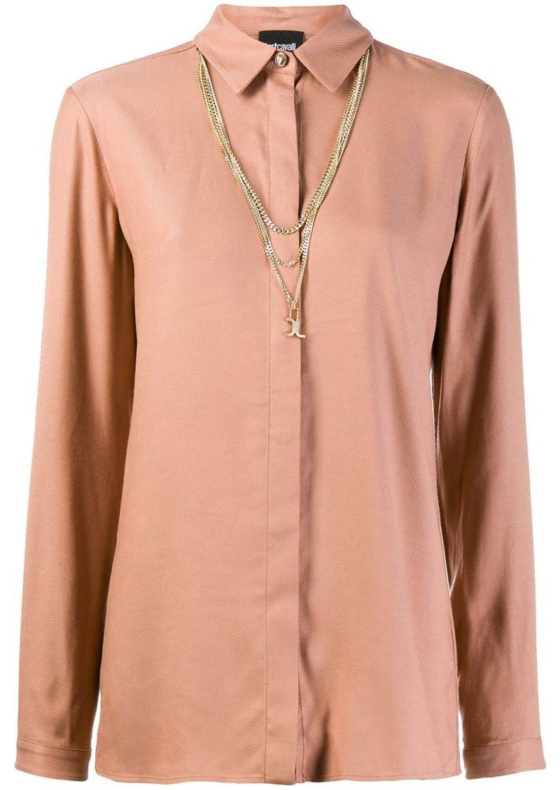 Just Cavalli multi-chain neck shirt