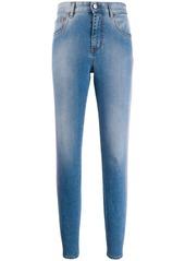 Just Cavalli neon stripe skinny jeans