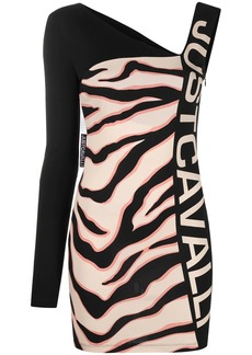 Just Cavalli one-shoulder bodycon dress