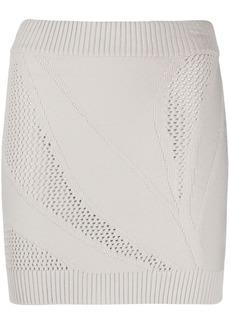 Just Cavalli open-knit mini skirt