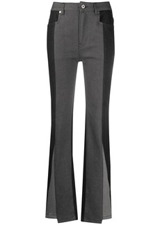 Just Cavalli panelled bootcut jeans