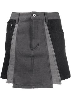 Just Cavalli panelled denim skirt