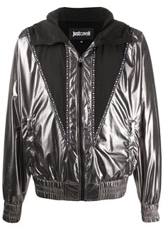 Just Cavalli panelled hooded jacket