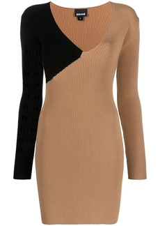 Just Cavalli perforated ribbed-knit dress