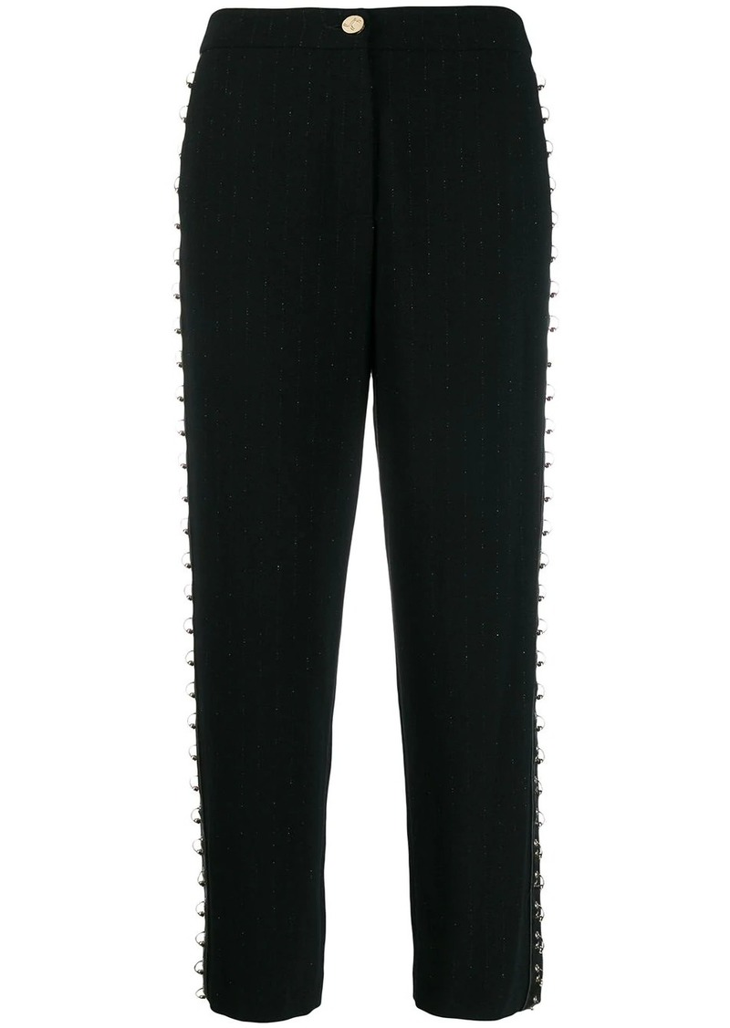 Just Cavalli pierced cropped trousers