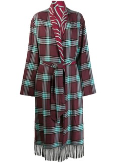 Just Cavalli plaid cardigan coat
