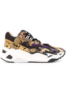 Just Cavalli platform snakeskin effect sneakers