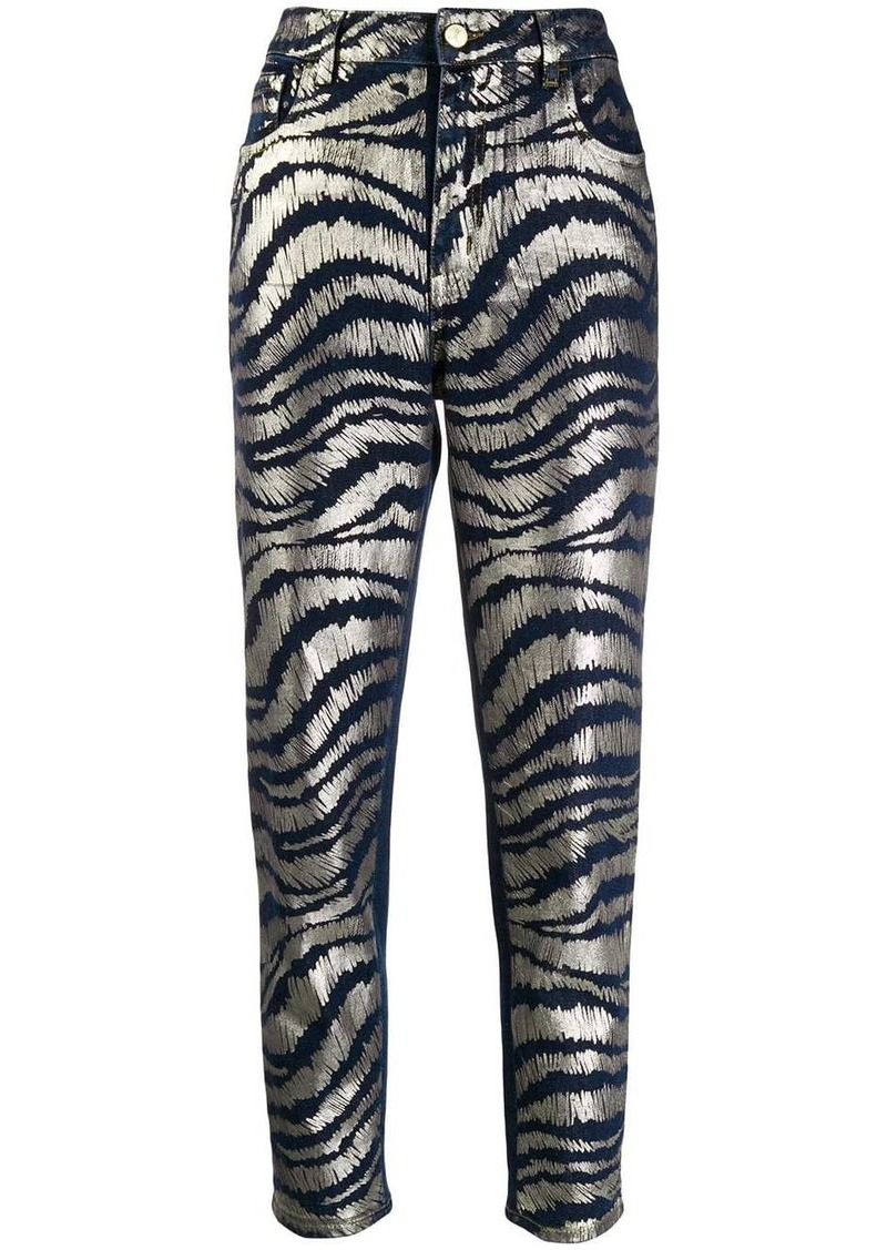 Just Cavalli printed cropped jeans