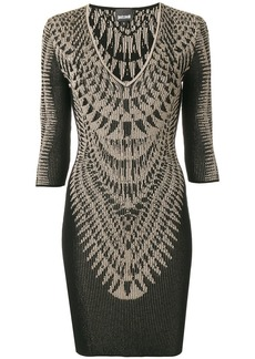 Just Cavalli printed ribbed dress