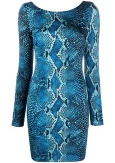 Just Cavalli python-print mini dress