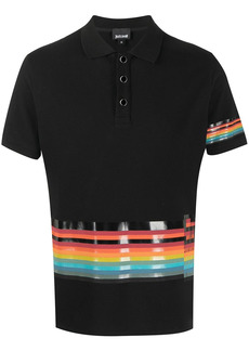 Just Cavalli rainbow-striped polo shirt