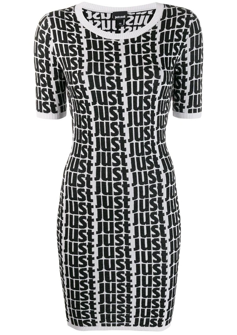Just Cavalli repeat logo dress