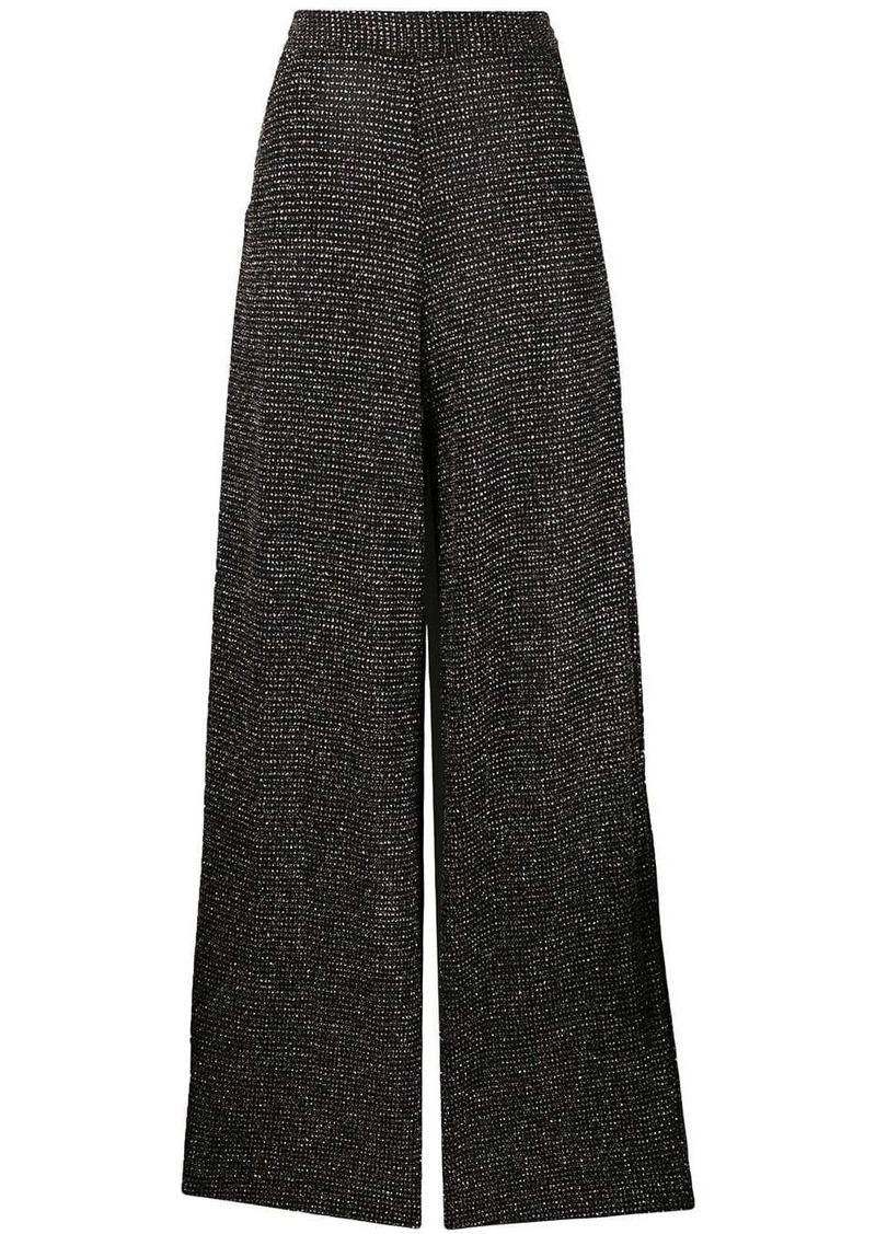 Just Cavalli rhinestone palazzo trousers