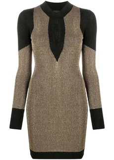 Just Cavalli ribbed cut-out detail dress