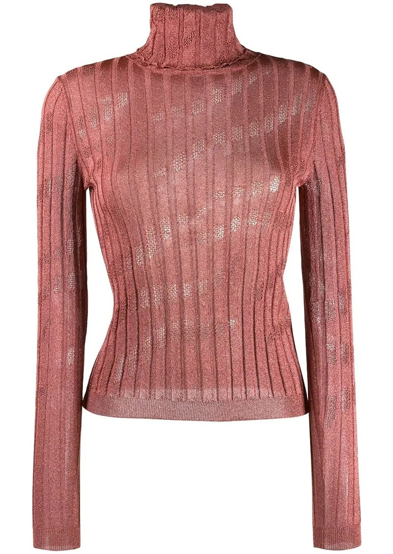 Just Cavalli ribbed turtleneck top