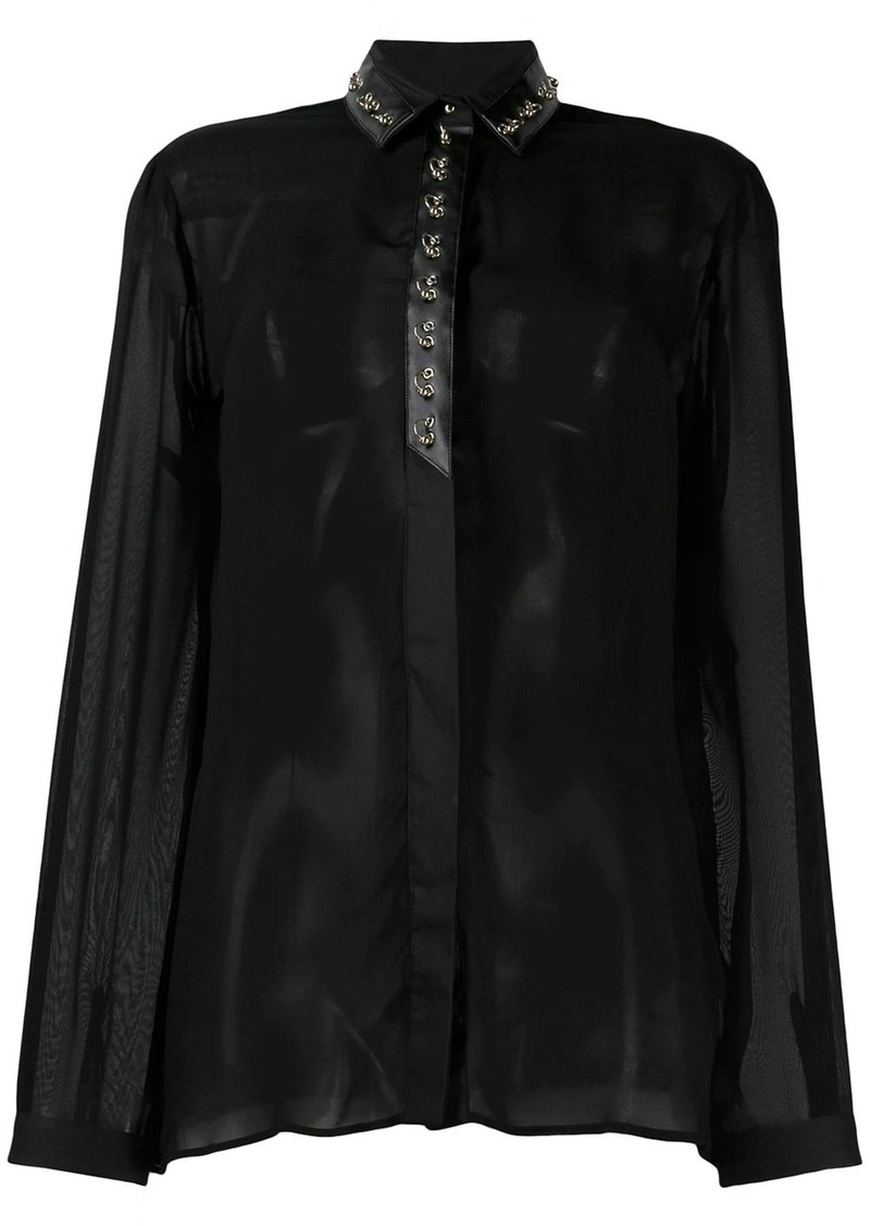 Just Cavalli ring embellished blouse