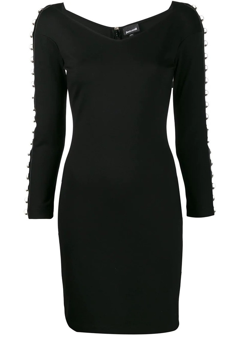 Just Cavalli ring embellished dress