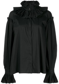 Just Cavalli ruff collar blouse