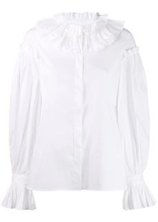 Just Cavalli ruffle collar shirt