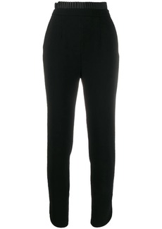 Just Cavalli satin pleat trim suit trousers