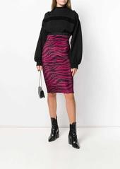 Just Cavalli scribble-print skirt
