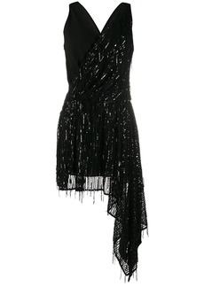 Just Cavalli sequin embellished asymmetric dress