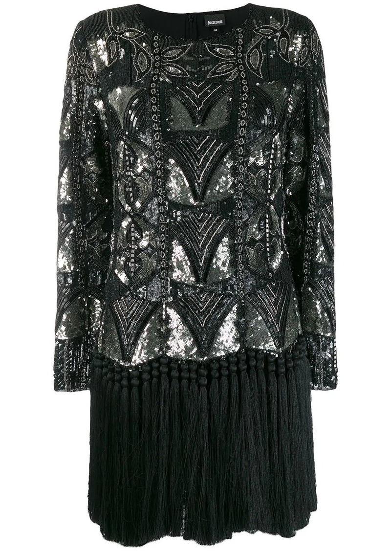 Just Cavalli sequin embellished dress
