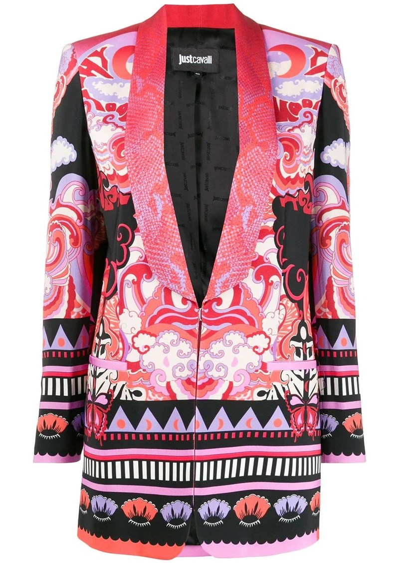 Just Cavalli shawl-lapel printed blazer