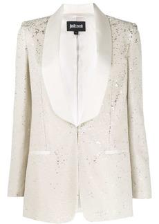 Just Cavalli shawl-lapel sequin blazer