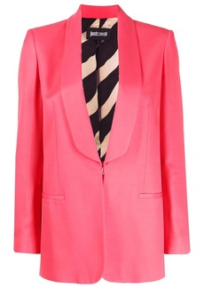 Just Cavalli shawl-lapel single breasted blazer