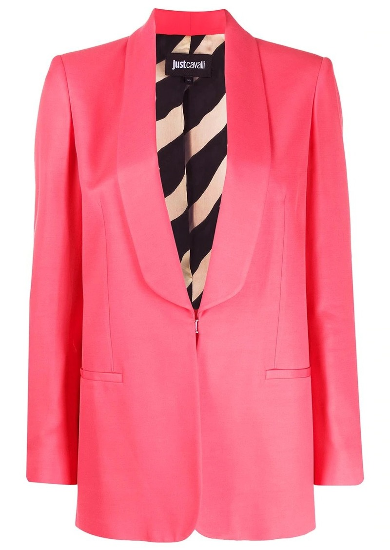 Just Cavalli shawl-lapel single breasted blazer